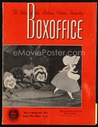 6h091 BOX OFFICE exhibitor magazine September 8, 1951 Day the Earth Stood Still contest & photo!