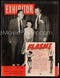 6h082 EXHIBITOR exhibitor magazine July 15, 1953 Roman Holiday fold-out, Gentlemen Prefer Blondes!