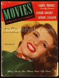 6h133 MODERN MOVIES magazine January 1942 head & shoulders portrait of sexy Rita Hayworth!