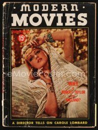 6h124 MODERN MOVIES magazine November 1937 a director tells on sexy Carole Lombard!