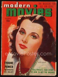 6h126 MODERN MOVIES magazine November 1938 art of beautiful Hedy Lamarr, Three Dollar a Day Cagney!