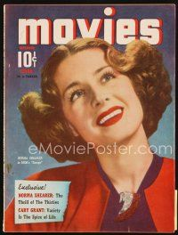 6h129 MODERN MOVIES magazine November 1940 portrait of pretty smiling Norma Shearer!