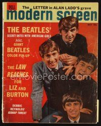 6h152 MODERN SCREEN magazine May 1964 Beatles' secret dates with American girls, photo by Hoffman!
