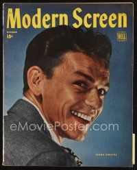 6h148 MODERN SCREEN magazine October 1945 great portrait of young Frank Sinatra by Willinger!