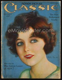 6h137 MOTION PICTURE CLASSIC magazine December 1925 art of pretty Betty Bronson by E. Dahl!