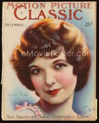 6h144 MOTION PICTURE CLASSIC magazine December 1927 art of pretty Marian Nixon by Don Reed!