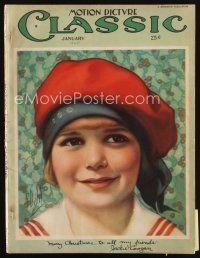 6h136 MOTION PICTURE CLASSIC magazine January 1925 great art of young Jackie Coogan by E. Dahl!