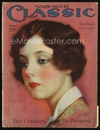 6h140 MOTION PICTURE CLASSIC magazine March 1927 art of pretty Betty Bronson by Don Reed!