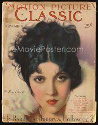 6h143 MOTION PICTURE CLASSIC magazine November 1927 art of beautiful Olive Borden by Don Reed!