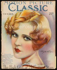 6h142 MOTION PICTURE CLASSIC magazine October 1927 art of sexy Phyllis Haver by Don Reed!