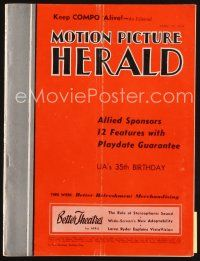 6h083 MOTION PICTURE HERALD exhibitor magazine April 10, 1954 Marilyn Monroe in River of No Return!