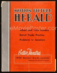 6h085 MOTION PICTURE HERALD exhibitor magazine March 24, 1956 Alexander the Great, Harder They Fall