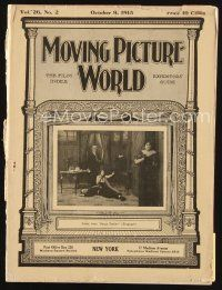 6h075 MOVING PICTURE WORLD exhibitor magazine Oct 9, 1915 Mary Pickford, Little Mary Miles Minter!