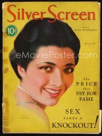 6h104 SILVER SCREEN magazine March 1931 art of beautiful Kay Francis by John Rolston Clarke!