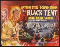 6j037 BLACK TENT English 1/2sh '57 soldier Anthony Steele marries the Sheik's daughter, cool art!