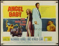 6j009 ANGEL BABY 1/2sh '61 full-length George Hamilton standing with sexiest Salome Jens!