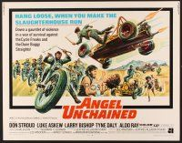6j010 ANGEL UNCHAINED 1/2sh '70 AIP, bikers & hippies, this is the hell run that you make alone!