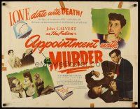 6j014 APPOINTMENT WITH MURDER 1/2sh '48 Calvert as The Falcon makes a date w/thrill of his life!