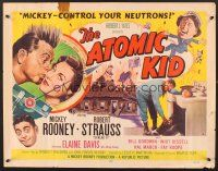 6j017 ATOMIC KID style B 1/2sh '55 art of nuclear Mickey Rooney, an explosion of laffs!