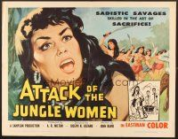 6j018 ATTACK OF THE JUNGLE WOMEN 1/2sh '59 art of sexy untamed women without morals or mercy!