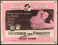 6j029 BEYOND THE FOREST 1/2sh '49 Vidor, nobody's as good as smoking Bette Davis when she's bad!