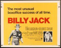 6j032 BILLY JACK 1/2sh R73 Tom Laughlin, Delores Taylor, most unusual boxoffice success ever!