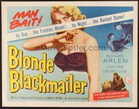 6j039 BLONDE BLACKMAILER 1/2sh '58 bad girl Susan Shaw's body was the secret to the shakedown!