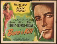6j043 BORN TO KILL style B 1/2sh '46 Lawrence Tierney, sexy Claire Trevor!