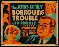 6j044 BORROWING TROUBLE other company 1/2sh '37 cool different art of The Jones Family!
