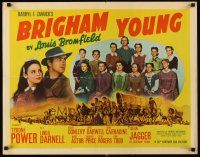 6j048 BRIGHAM YOUNG style A 1/2sh '40 Tyrone Power, Dean Jagger, very young Linda Darnell!