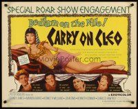 6j061 CARRY ON CLEO 1/2sh '65 English comedy on the Nile, sexy full-length Amanda Barrie!