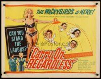 6j063 CARRY ON REGARDLESS 1/2sh '63 Sidney James, Kenneth Connor, English comedy!