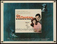 6j073 COLLECTOR 1/2sh '65 art of Terence Stamp & Samantha Eggar, William Wyler directed!