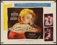 6j074 COME ON style B 1/2sh '56 Sterling Hayden, cool image of very sexy bad girl Anne Baxter!