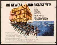 6j075 CONQUEST OF THE PLANET OF THE APES 1/2sh '72 Roddy McDowall, the revolt of the apes!