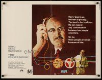 6j076 CONVERSATION 1/2sh '74 Gene Hackman is an invader of privacy, Francis Ford Coppola directed!