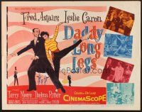 6j080 DADDY LONG LEGS 1/2sh '55 wonderful art of Fred Astaire in tux dancing with Leslie Caron!