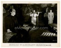 6r047 ABBOTT & COSTELLO MEET FRANKENSTEIN 8x10 still '48 Lou in stocks, monster in foreground!