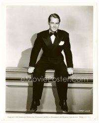 6r050 ALAN LADD candid 8x10 still '45 great full-length seated portrait wearing tuxedo!