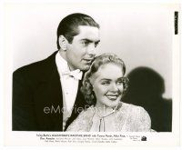6r052 ALEXANDER'S RAGTIME BAND 8x10 still '38 wonderful close up of Tyrone Power & Alice Faye!