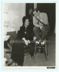 6r059 ANGEL candid 8x10 still '37 Marlene Dietrich sitting calmly with director Ernst Lubitsch!