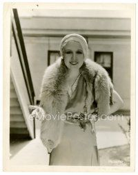 6r064 ANITA PAGE 8x10 still '31 great close up wearing mink before filming Sidewalks of New York!