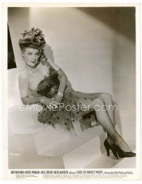 6r065 ANN SHERIDAN 8x10 still '37 full-length portrait in sexy skimpy outfit seated on stairs!