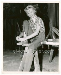 6r069 ANNE FRANCIS candid 8x10 still '55 cool image of young actress from Bad Day at Black Rock!