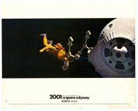 6r030 2001: A SPACE ODYSSEY color English FOH LC #11 '68 Kubrick, astronaut in space in Cinerama!