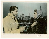 6r002 AFFAIR TO REMEMBER color 8x10 still '57 Cary Grant & Deborah Kerr in front of New York skyline