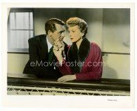 6r003 AFFAIR TO REMEMBER color 8x10 still '57 close up of Cary Grant & Deborah Kerr holding hands!