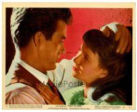6r009 EAST OF EDEN color 8x10 still #11 '55 romantic close up of James Dean & Julie Harris!