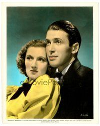 6r014 LAST GANGSTER color 8x10 still '37 great romantic c/u of James Stewart & Rose Stradner!