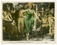 6r015 MISS SADIE THOMPSON color 8x10 still '53 sexy prostitute Rita Hayworth dances for soldiers!
